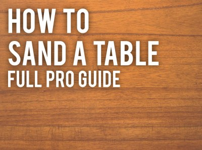 how to sand a table