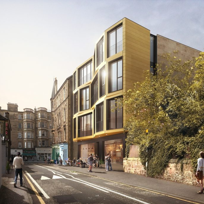 Exterior CGI Apartments on Canaan Lane