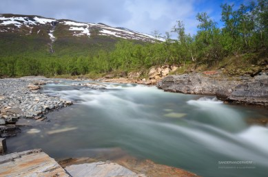 Spring at a river in Abisko National Park.