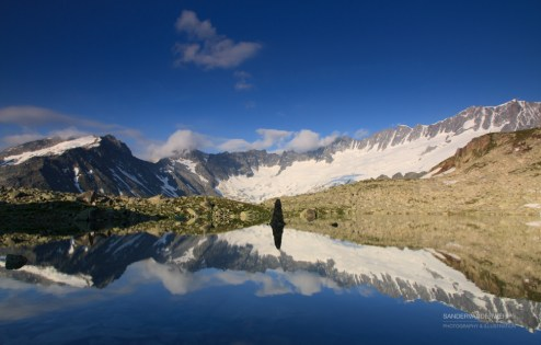 Tranquil sunrise at the Bergsee in the Uner Alps.