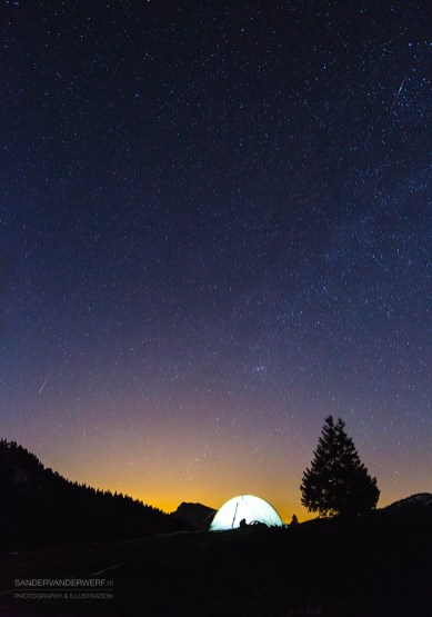 Under the stars in the Chartreuse.