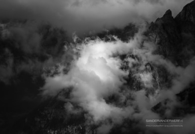 Clouds in the Italian Alps.