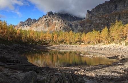 Lago Nero in Italy with lovely autumn colors.