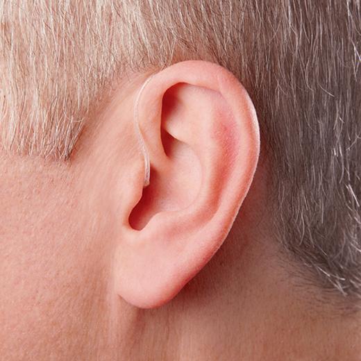 Tinnitus hearing aid on ear