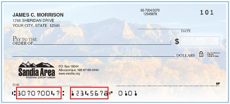 Bank Of America Check Routing Number Example