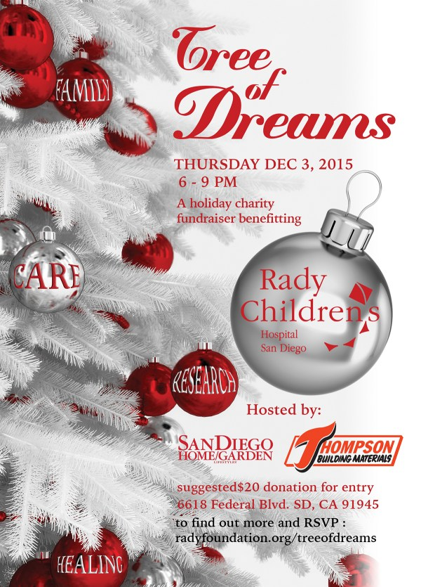Tree of Dreams Fundraiser for Rady Children's Hospital Dec ...