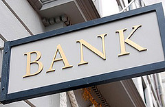 Picture Of A Small Bank Sign