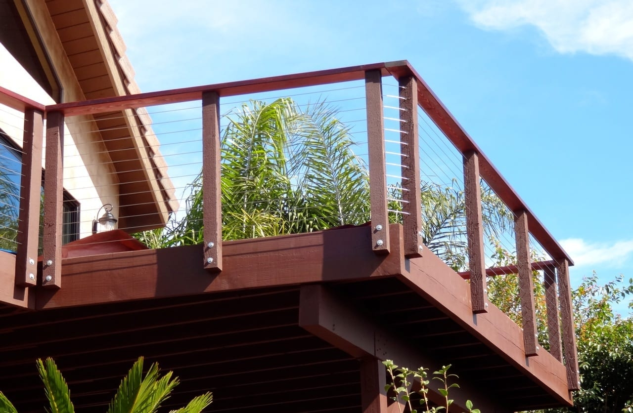 Do It Yourself Cable Railings Archives San Diego Cable Railings | Wood And Cable Stair Railing | Dark | Diy | Exterior Irregular Stair | Residential | Forgings