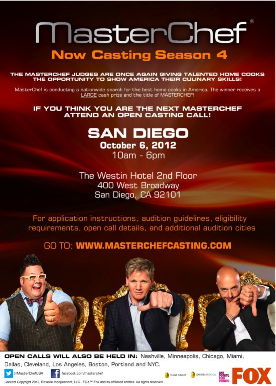 Master Chef Season 4 Coming to San Diego!