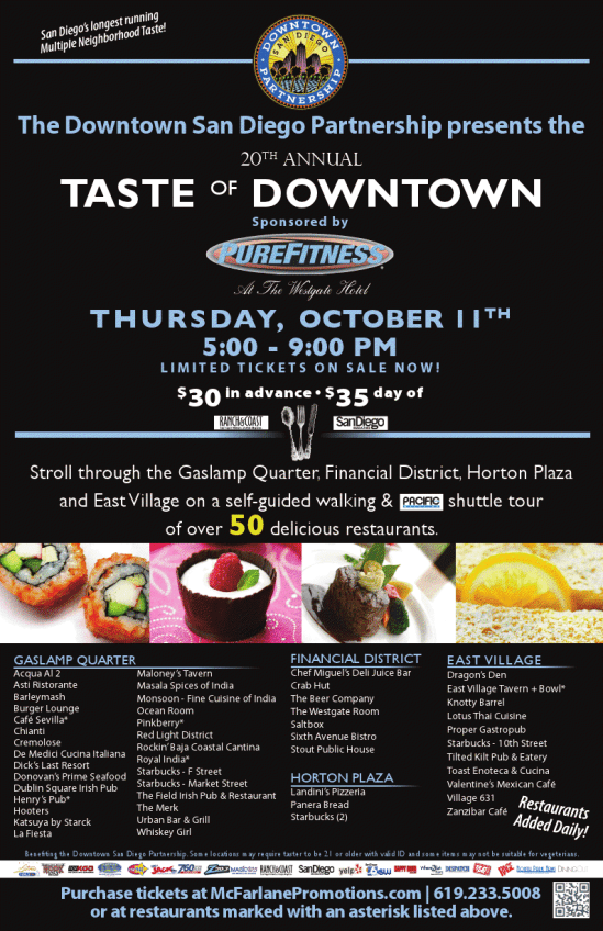Taste of Downtown Giveaway!!!