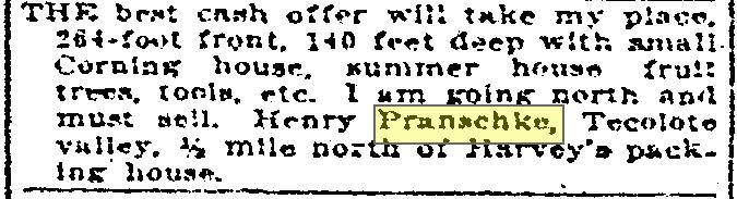 Pranschke selling house