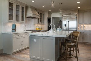 kitchen island with eating area
