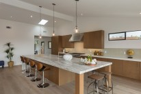 Modern Luxury Kitchen Island - angled view