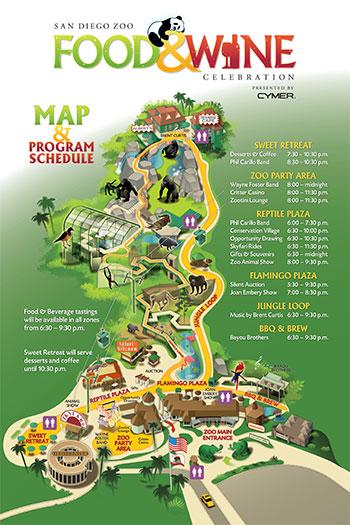 San Diego Zoo Food Wine Celebration GoThere Travel News - San diego zoo map