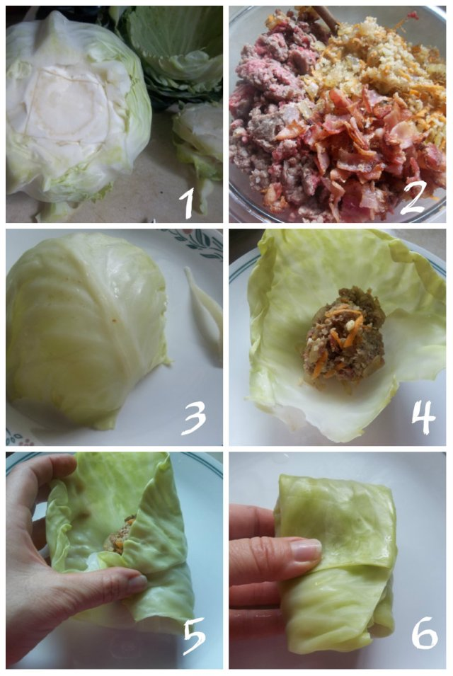 Making Cabbage Rolls