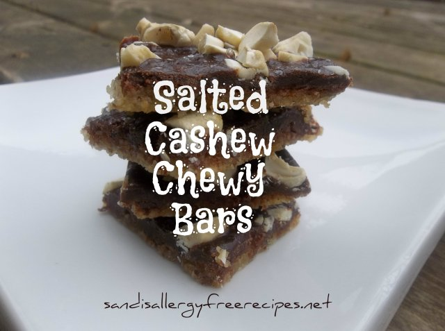 Salted Cashew Chewy Bars