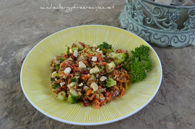 Cashew Cranberry Quinoa Salad With Maple Citrus Dressing