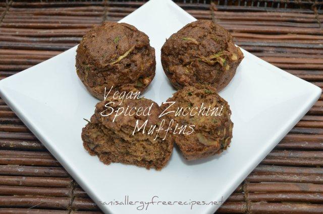 Vegan Spiced Zucchini Muffins