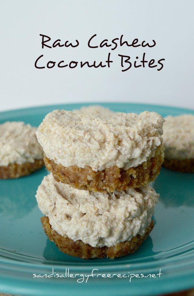 Raw Cashew Coconut Bites
