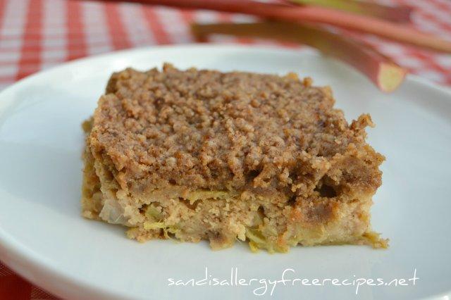 Vegan Gluten Free Rhubarb Cake