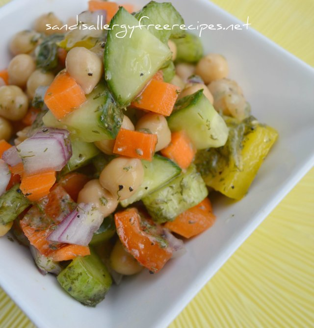 Lemon Dill Chickpea Salad