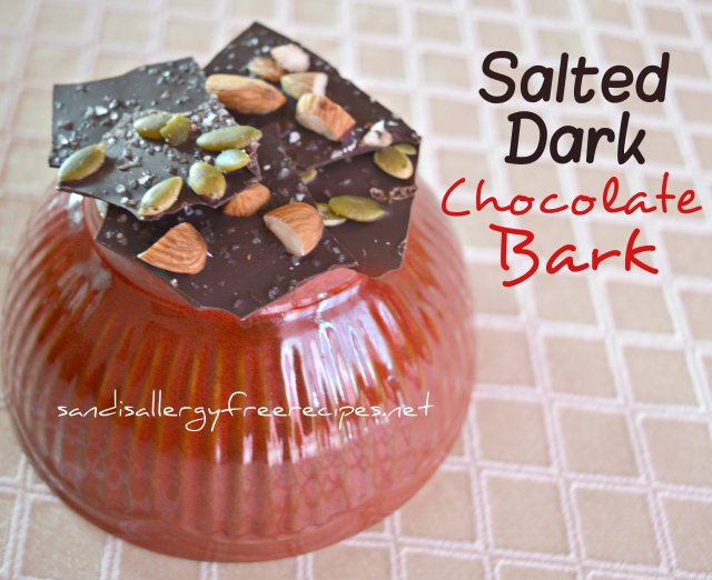 Salted Dark Chocolate Bark