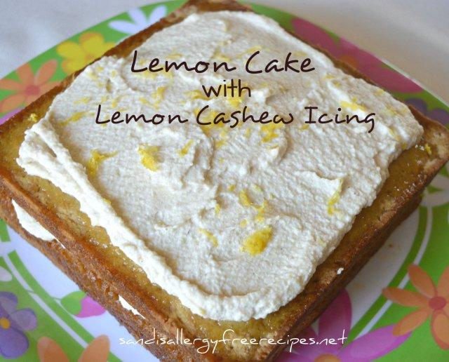 Lemon Cake with Lemon Cashew Icing