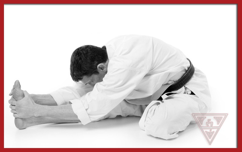 Karate Guy Stretching Out Muscles