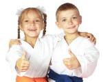 Little Dragons Working Together in Karate