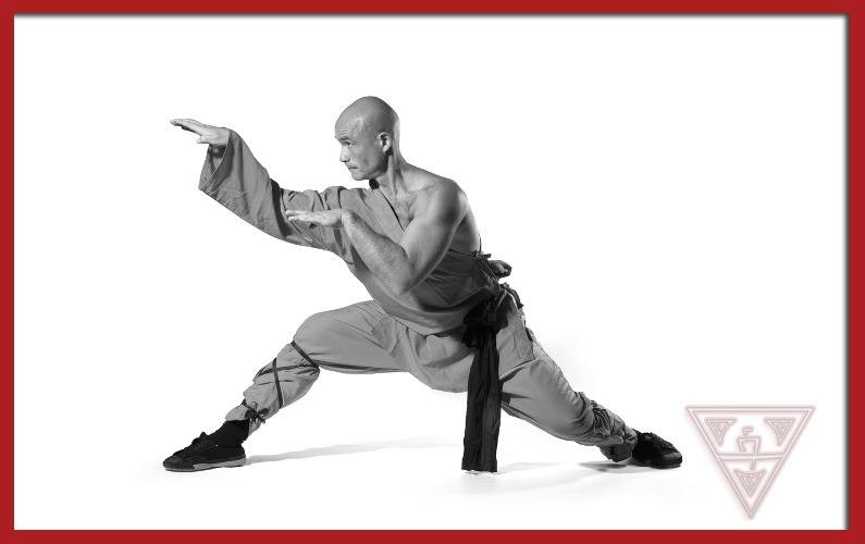 Man Performing Chinese Martial Arts
