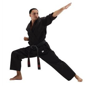 Man with New Karate Uniform