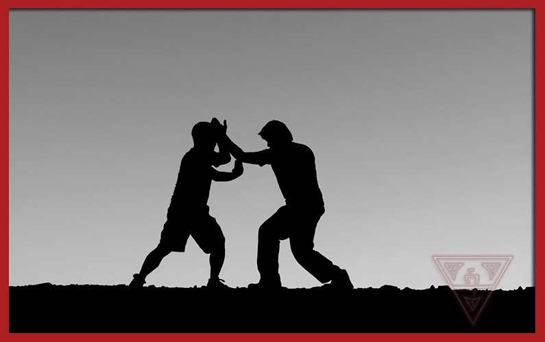 Martial Artists Practicing Moves