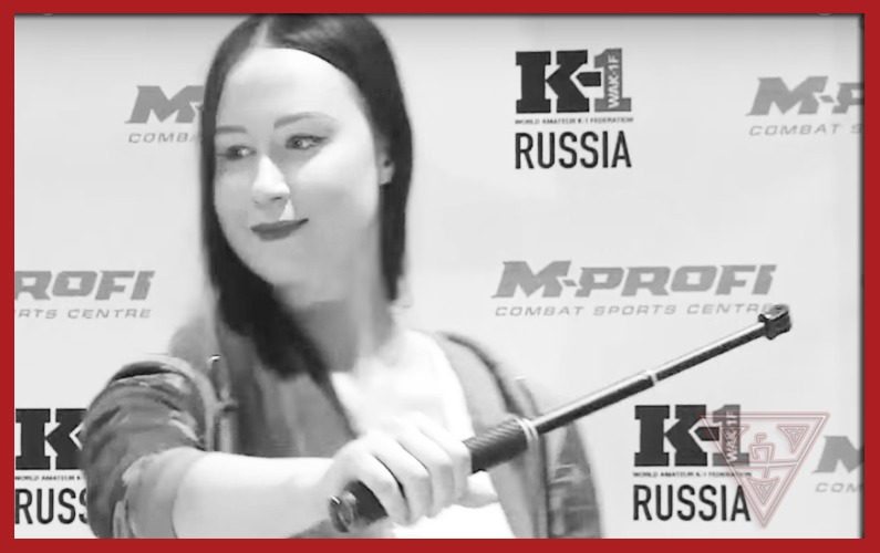 Russian Woman Learns Self-Defense with Selfie Stick
