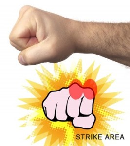 Closed Fist Punch Strike Area