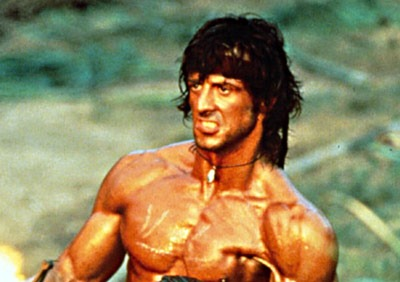 Sylvester Stallone as John Rambo in Rambo: First Blood II (1985)