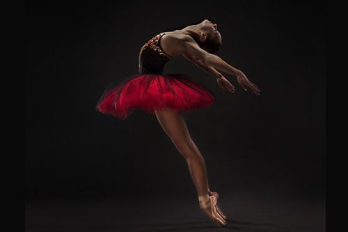 Woman Practicing Ballet Moves