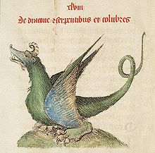 [Dragon illustration in A 1460 edition of the Liber Floridus [photo: Wikipedia]