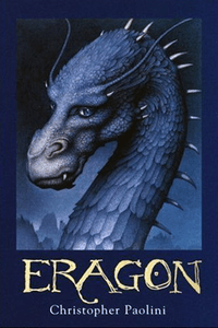 Eragon by Christopher Paolini - book cover 28-4-14