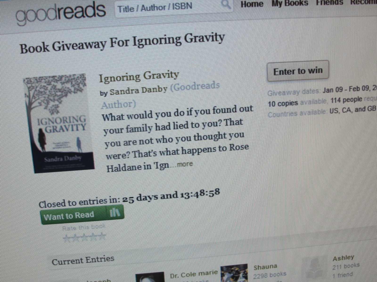 Can we read books on goodreads giveaways
