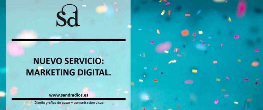Nuevo servicio Marketing Digital - confetti