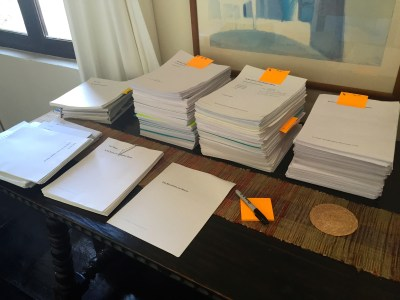 sorting papers for my literary archives