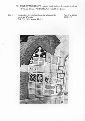 mid 18th-century plan