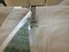 Sandra Healy Designs Silver Tree Cushion Adding Applique