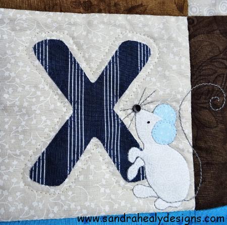 Alphabet quilt X Letter