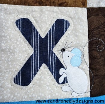 Sandra Healy Designs Alphabet quilt X Letter