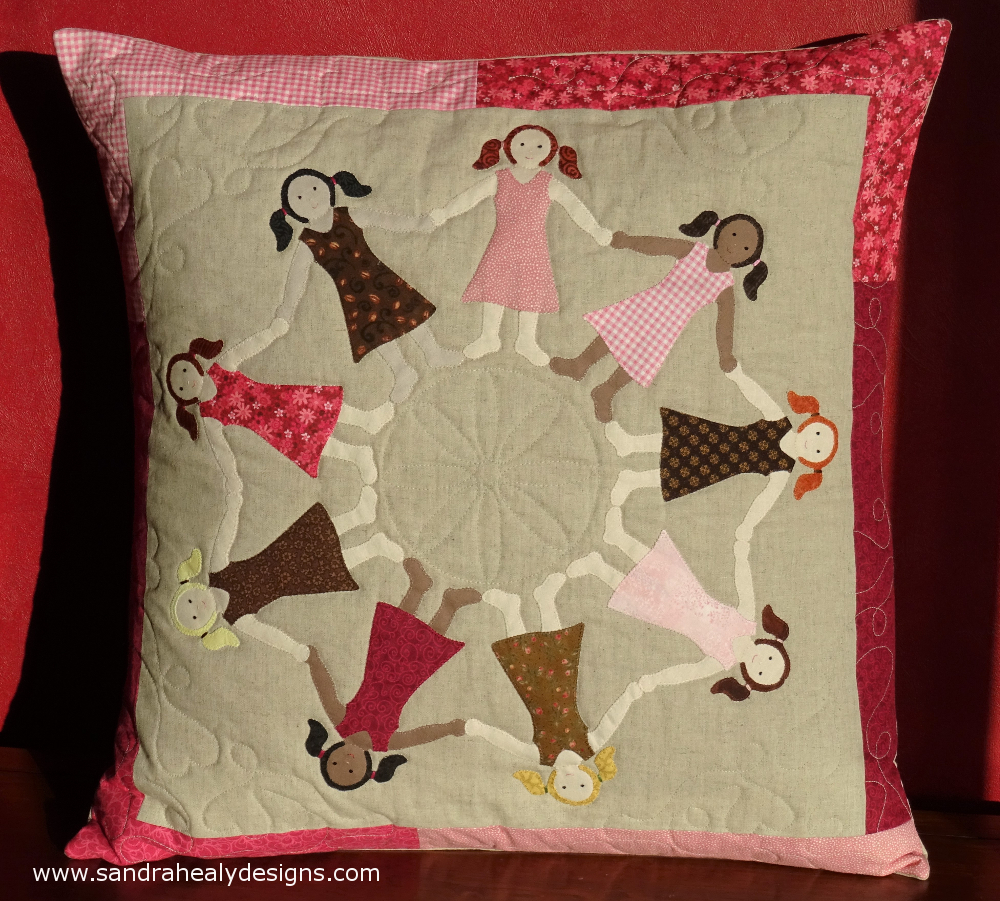Sandra Healy Designs Dancing Girls Cushion