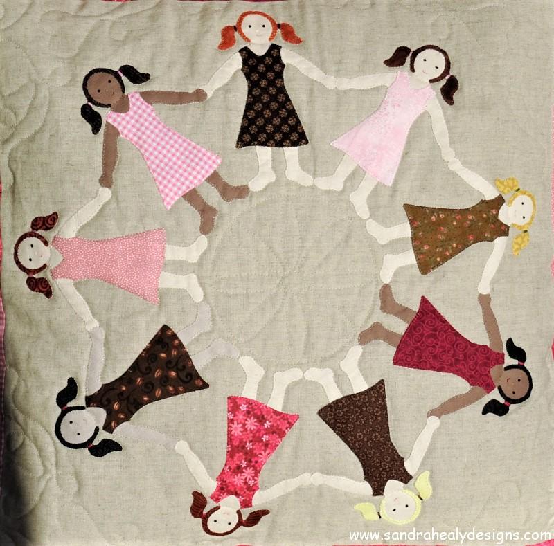 Sandra Healy Designs Dancing Girls Applique