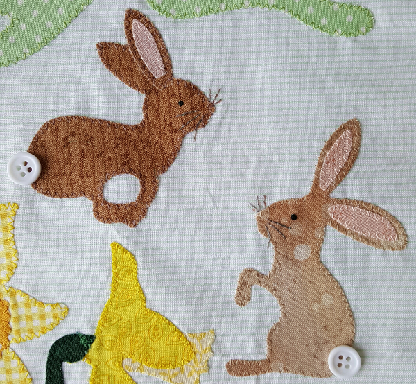 Sandra Healy Designs Calendar Quilt March Block Hares