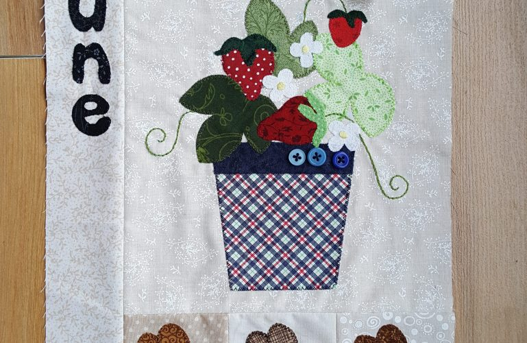 Sandra Healy Designs Calendar Quilt June Block