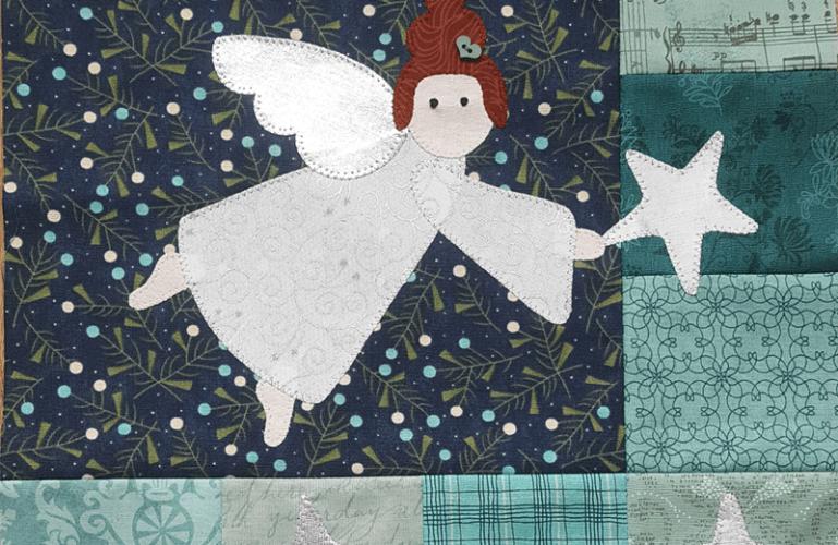 Sandra Healy Designs, I Wish You A Merry QAL, Hanging Star Angel Block